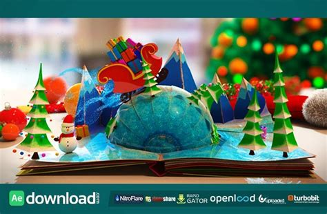 christmas pop  book  effects project videohive    effects templates