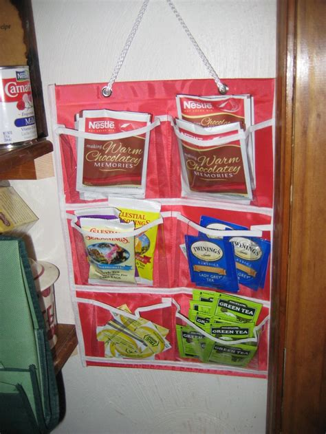 Dollar Store Pantry by Dollar Store Pockets Make Great Organization For Teas And