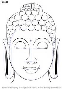 learn how to draw buddha face buddhism step by step