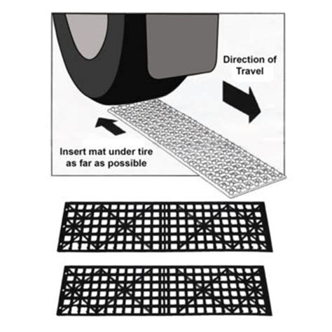 Tire Traction Mats by Set Of 2 Auto Tire Snow Grabber Traction Mats Mud Sand For Car Truck Suv Ebay