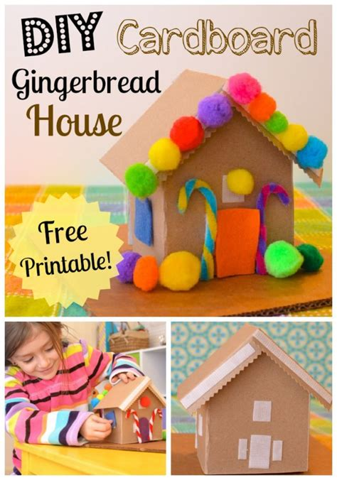 How To Decorate A Small House With No Money diy cardboard toy gingerbread house inner child fun