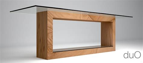 tavoli studio tavolo in legno e cristallo duo architetto andrea