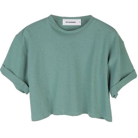 Crop Shirt stylenanda s roll up color crop top 34 sgd liked