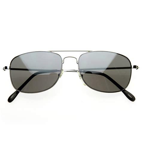 Mirrored Lens Aviator Sunglasses aviators classic square wire metal aviator sunglasses w