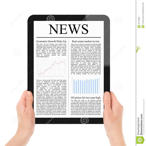 reading on tablet reading news on tablet pc royalty free stock photos