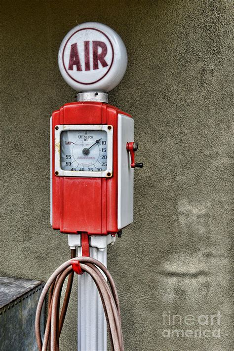 When Is The Next Meter Shower by Vintage Gas Station Air Pump 2 Photograph By Paul Ward