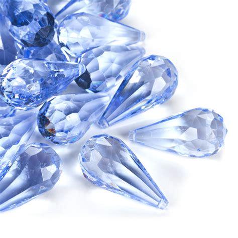 Rhinestone Vases Wholesale Light Blue Acrylic Teardrop Diamonds Decorative Gems