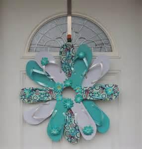 handmade flip flop wreath door wall decor