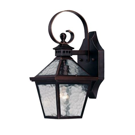 Outdoor Lighting Fixtures Wall Mount Acclaim Lighting Bay Collection 1 Light Architectural Bronze Outdoor Wall Mount Fixture