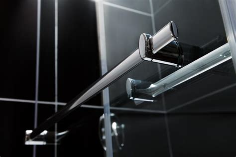Towel Bars For Shower Doors Dreamline 034 56 To 60 034 Charisma Sliding Tub Shower Glass Door And Wall Combination Ebay