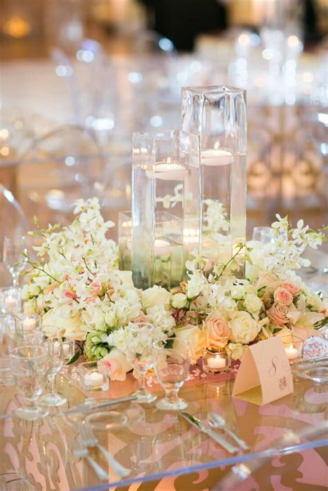 Centerpiece Flower Wedding by Floral Wreath Wedding Centerpieces With Floating Candles