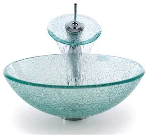 Most Popular Kitchen Faucets Kraus C Gv 500 12mm 10 Broken Glass Vessel Sink And