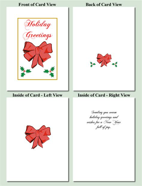 printable christmas card worksheets red bow design free printable christmas cards