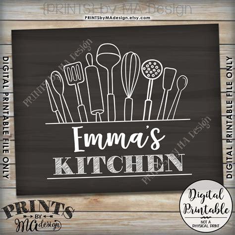 Custom Kitchen Signs by Kitchen Sign Kitchen Decor Wall Custom Kitchen