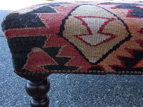 kilim covered ottoman 20th century english kilim covered ottoman at 1stdibs