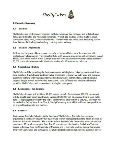 business plan format bakery 27 business plan templates