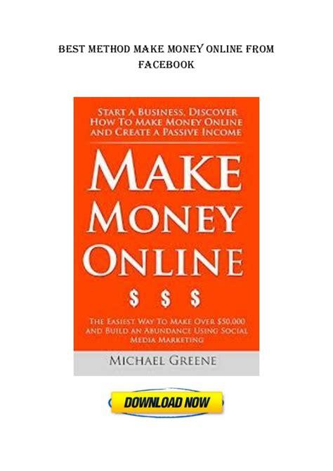 Make Money Online Facebook - make money with facebook