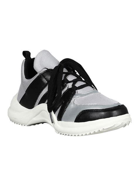 Lace Up Panel Shoes shoes contrast panel mesh lace up platform sneaker