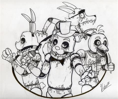 five nights at freddy s coloring book and puzzle for coloring activities book book puzzle books five nights at freddy s coloring pages black and white