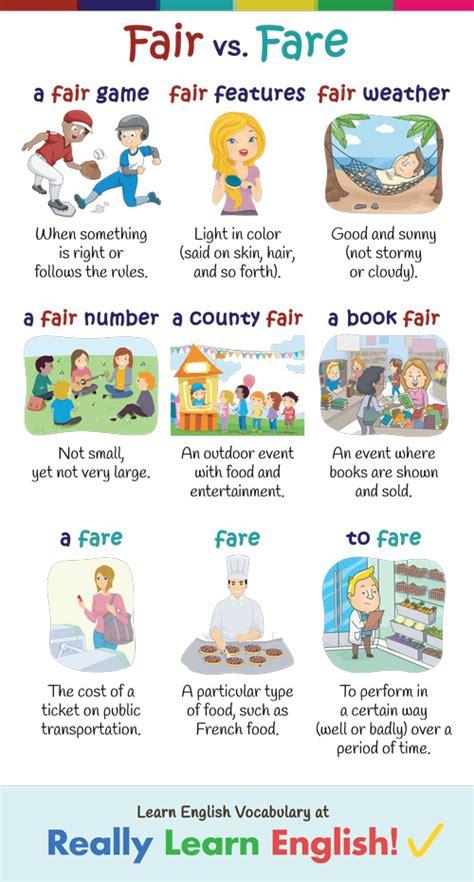 fare  fair  illustrations  examples