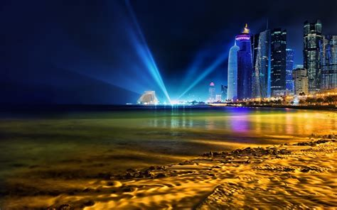 wallpaper qatar doha qatar skyline wallpaper wallmaya com