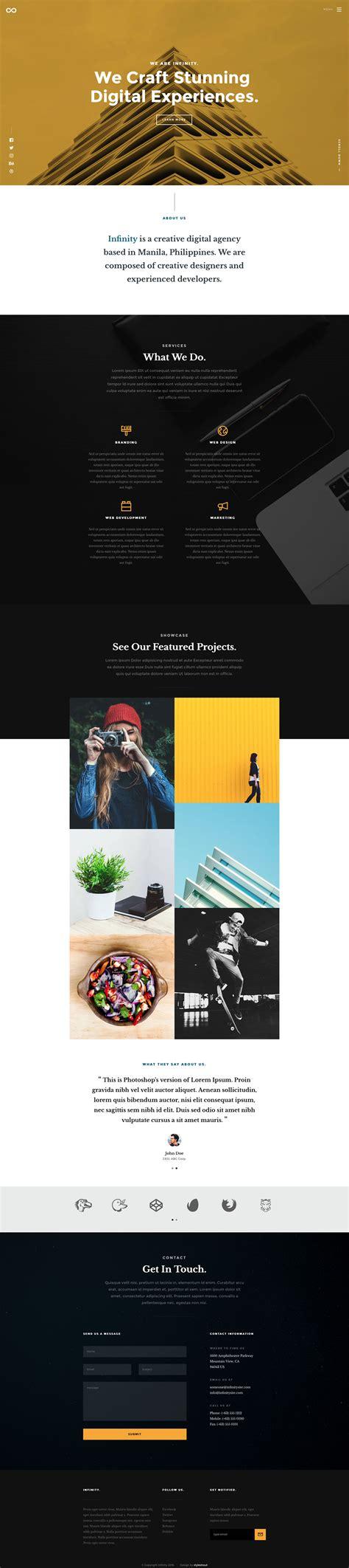 infinity free responsive html5 portfolio template