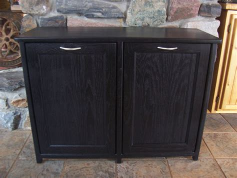 Bin Cabinet by New Black Painted Wood Trash Bin Cabinet By Woodupnorth