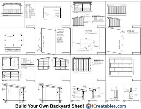 Free Shed Blueprints 12x20 by 12x20 Run In Shed Plans