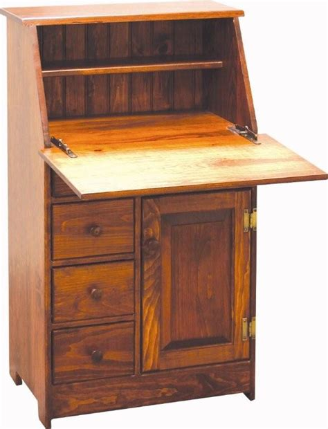 Amish Small Pine Secretary Desk Secretarys Desk