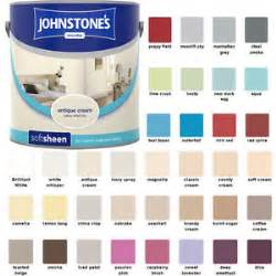 johnstones premium soft sheen 2 5 l paint for walls and ceilings in all colours ebay