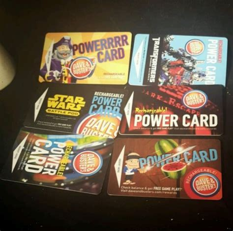 Where Can I Buy Dave And Busters Gift Cards - dave busters 100 powercard 720 game arcade tokens good every d b what s it