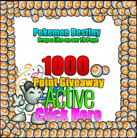Enter Free Giveaways - 1000 point giveaway enter free click here by pkmndestiny on deviantart
