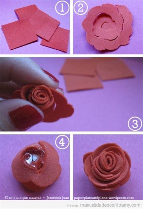 tutorial flores de goma eva foami flores faciles con goma eva imagui