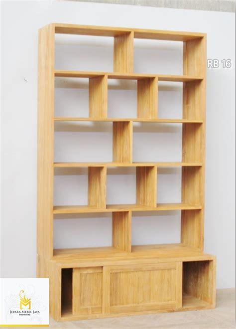 Rak Buku Dinding Kayu rak buku minimalis jati terbaru jepara mebel jaya jepara mebel jaya