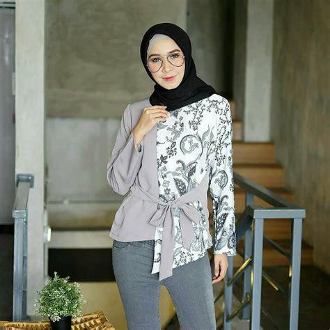 25 model baju batik kombinasi 2019 brokat polos sifon