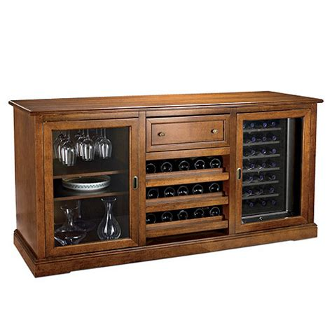 Wine Credenza Refrigerator siena wine credenza walnut with wine refrigerator wine enthusiast