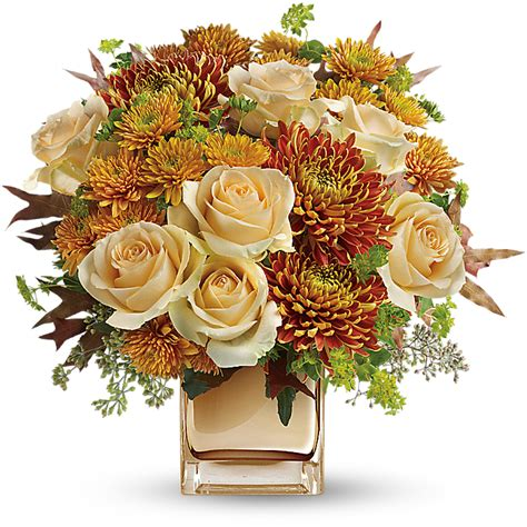 Fall Wedding Flower Arrangement by What Wedding Flowers Are In Season In Fall Teleflora
