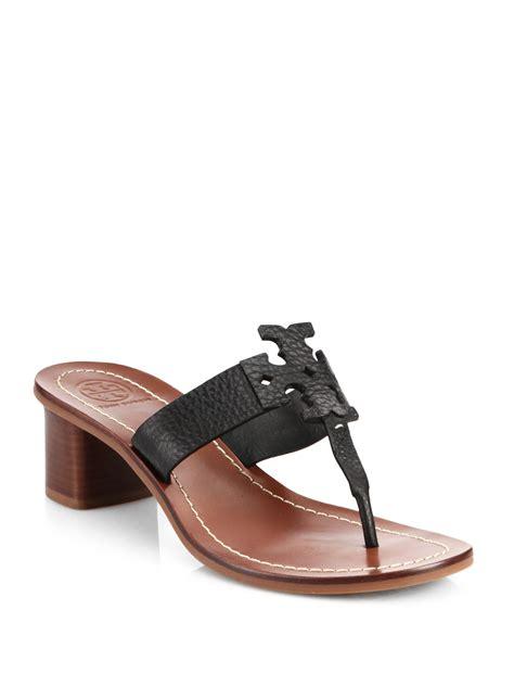 black burch sandals burch leather sandals in black lyst
