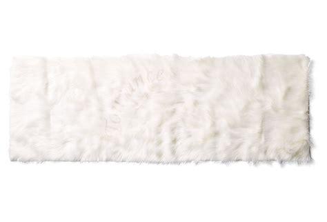 Ivory Runner Rug Australian Sheep Faux Fur Running Rug In Tourance