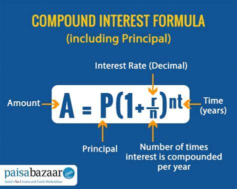 Compounding A P 1 R N Nt A Pe Rt compound interest formula and calculator paisabazaar