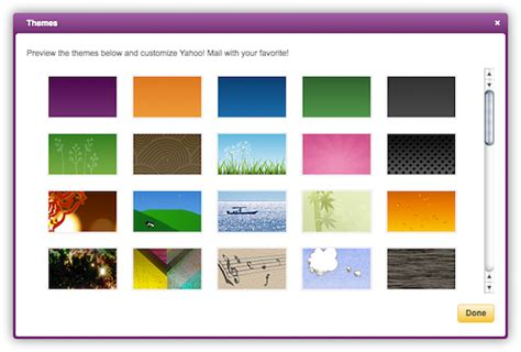 themes yahoo mail yahoo mail has over 50 themes to choose from