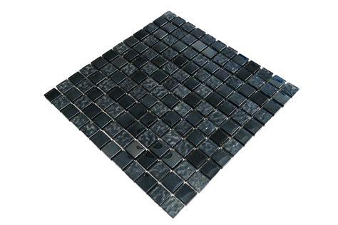 glasmosaik fliesen grau schwarz perlmutt g2323
