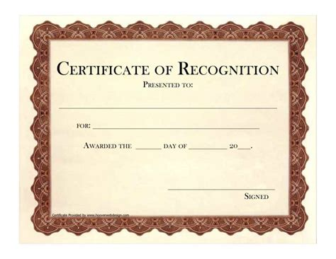 employee recognition certificate template employee recognition certificate templates template