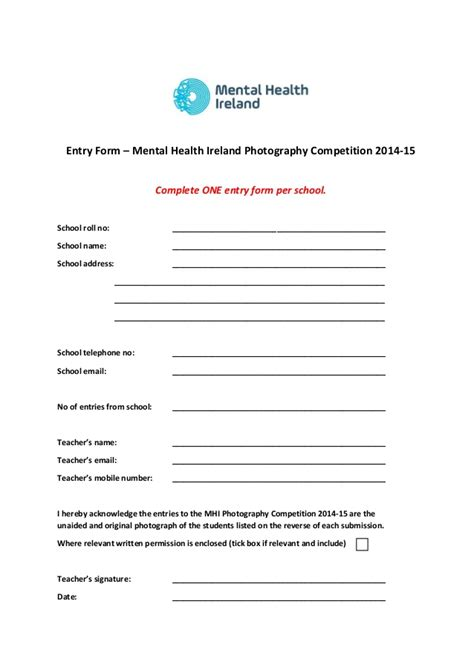 mental health ireland photography competition 2014 guideline and appl