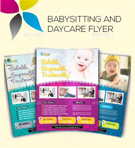 17 Babysitting Flyer Templates Psd Ai Illustrator Download Babysitting Brochure Template