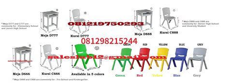 Kursi Plastik jual meja dan kursi sekolah tk sd smp sma kuliah kursi plastik harga murah bogor oleh cv alat