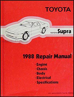 service manuals schematics 1997 toyota supra auto manual 1988 toyota supra repair shop manual original