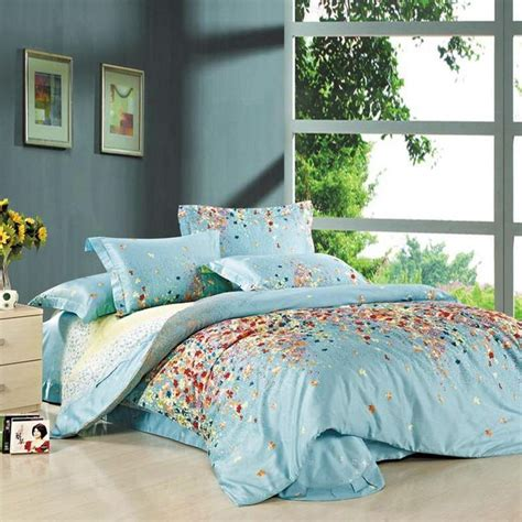queen size comforters blue hawaiian floral print full queen size bedding sets