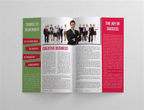 pages magazine template business magazine template 24 pages magazines