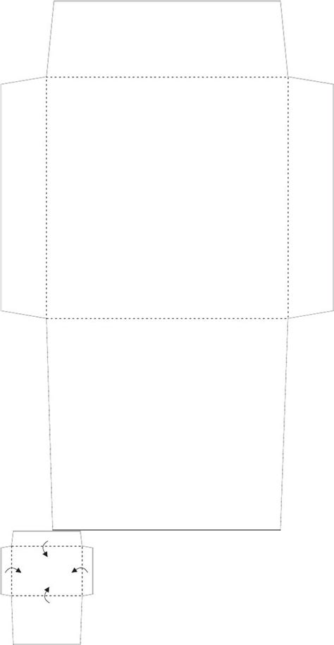 4x4 square envelope template printables design